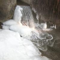 Vereister Wasserfall