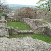 Ruine der Festung Schauenburg hoch über Dossenheim