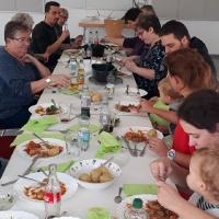 Mittagessen beim Braten Workshop